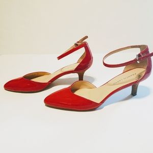 Franco Sarto Red low heel shoes size 9.5
